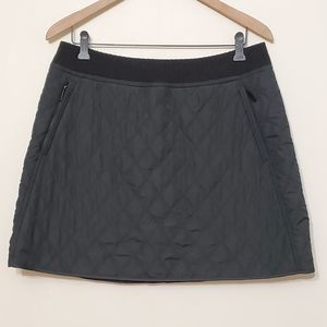 Prana Black Quilted Sherpa Lined Skirt, sz L